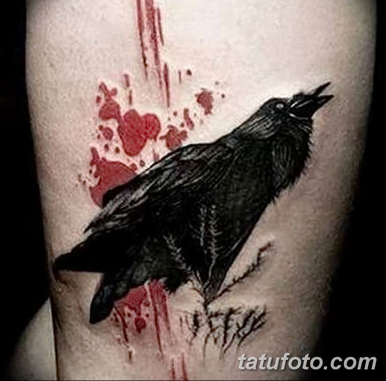 Фото тату черный ворон 15.04.2019 №137 - ideas black raven tattoo - tatufoto.com