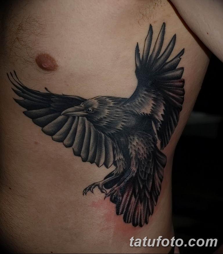 Фото тату черный ворон 15.04.2019 №139 - ideas black raven tattoo - tatufoto.com