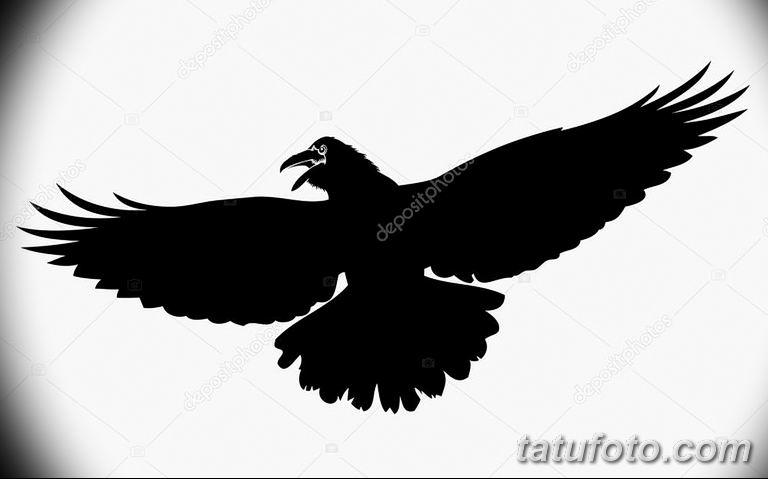 Фото тату черный ворон 15.04.2019 №142 - ideas black raven tattoo - tatufoto.com