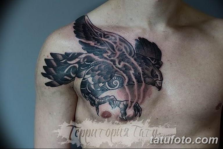 Фото тату черный ворон 15.04.2019 №161 - ideas black raven tattoo - tatufoto.com