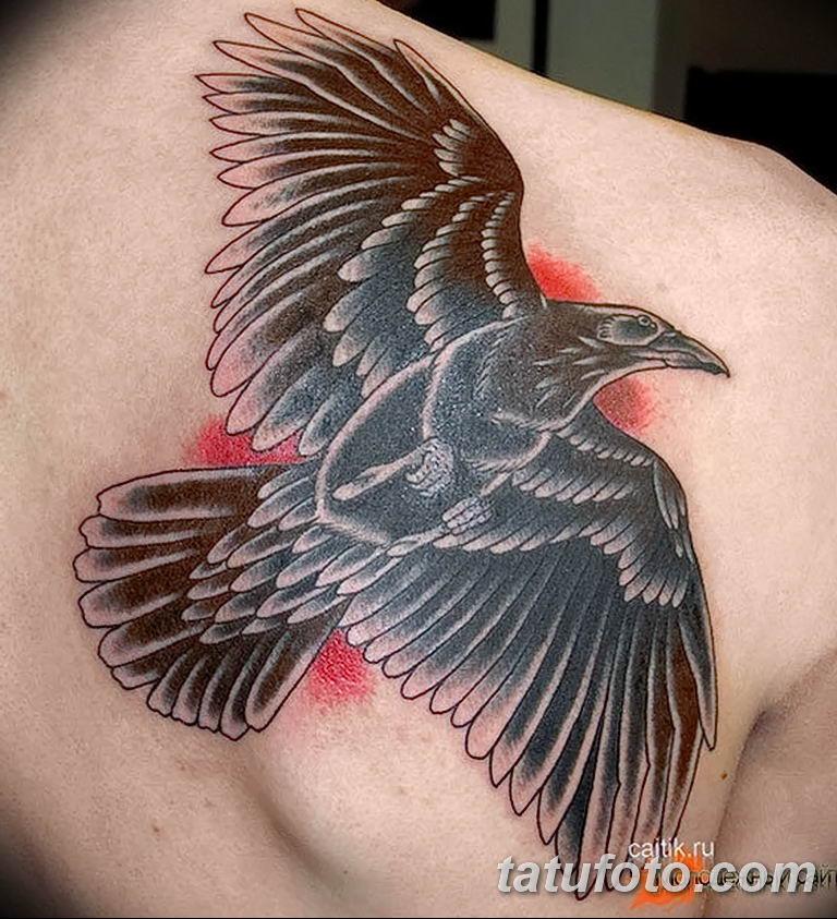 Фото тату черный ворон 15.04.2019 №167 - ideas black raven tattoo - tatufoto.com