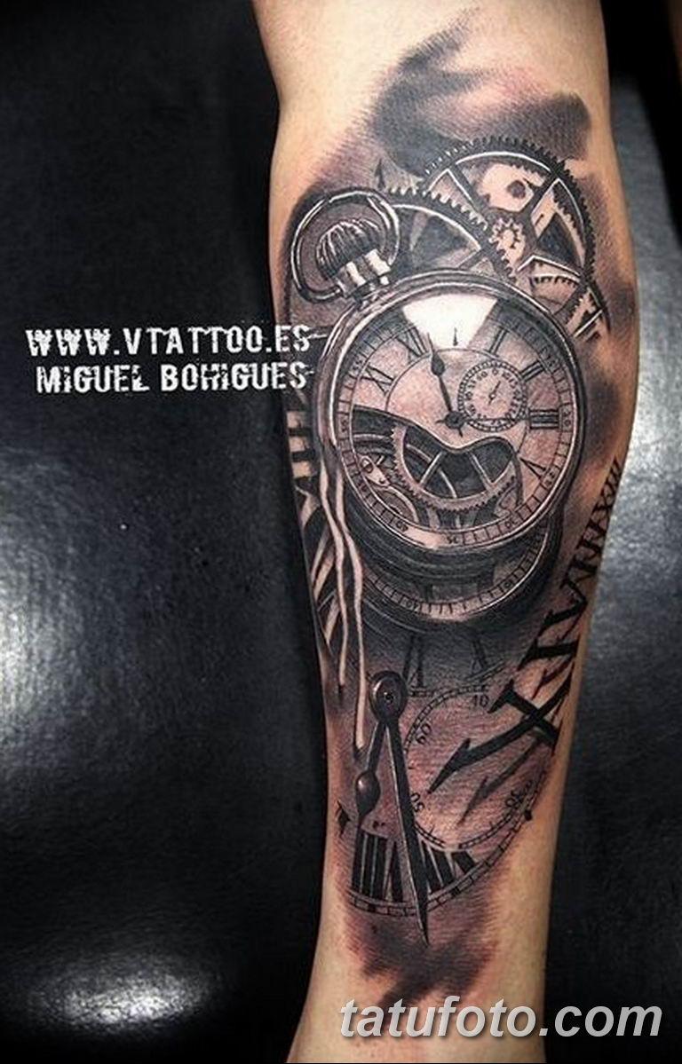 Фото ттату время (часы) 16.04.2019 №022 - tattoo time (hours) - tatufoto.com