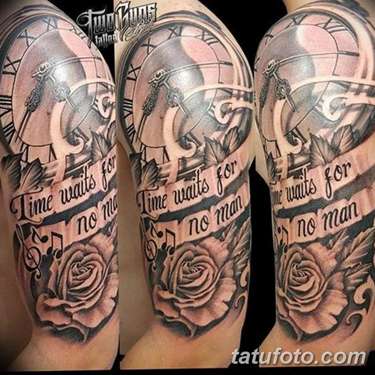 Фото ттату время (часы) 16.04.2019 №032 - tattoo time (hours) - tatufoto.com
