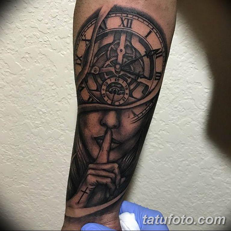 Фото ттату время (часы) 16.04.2019 №033 - tattoo time (hours) - tatufoto.com