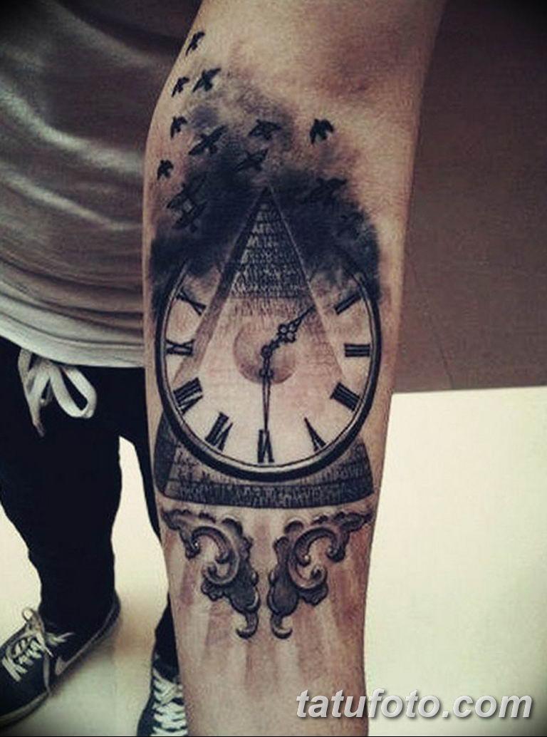 Фото ттату время (часы) 16.04.2019 №037 - tattoo time (hours) - tatufoto.com