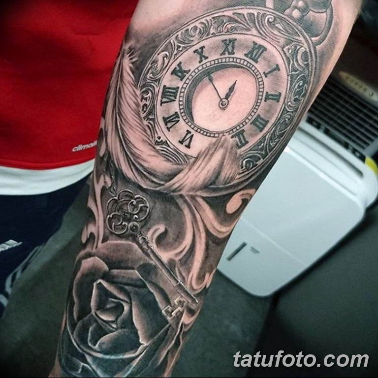 Фото ттату время (часы) 16.04.2019 №044 - tattoo time (hours) - tatufoto.com