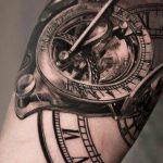 Фото ттату время (часы) 16.04.2019 №050 - tattoo time (hours) - tatufoto.com
