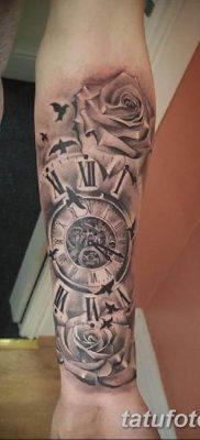 Фото ттату время (часы) 16.04.2019 №058 – tattoo time (hours) – tatufoto.com