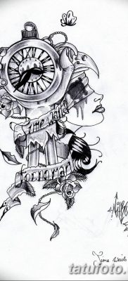 Фото ттату время (часы) 16.04.2019 №060 – tattoo time (hours) – tatufoto.com