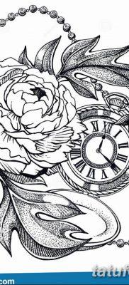 Фото ттату время (часы) 16.04.2019 №064 – tattoo time (hours) – tatufoto.com