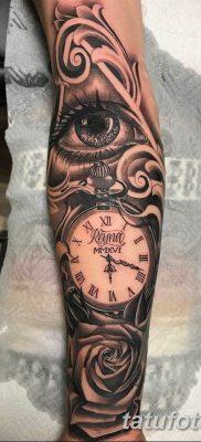 Фото ттату время (часы) 16.04.2019 №069 – tattoo time (hours) – tatufoto.com