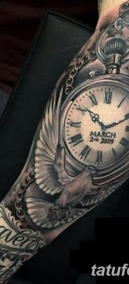 Фото ттату время (часы) 16.04.2019 №070 – tattoo time (hours) – tatufoto.com