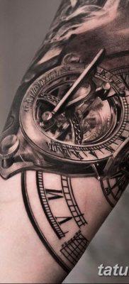 Фото ттату время (часы) 16.04.2019 №074 – tattoo time (hours) – tatufoto.com