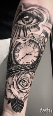 Фото ттату время (часы) 16.04.2019 №076 – tattoo time (hours) – tatufoto.com