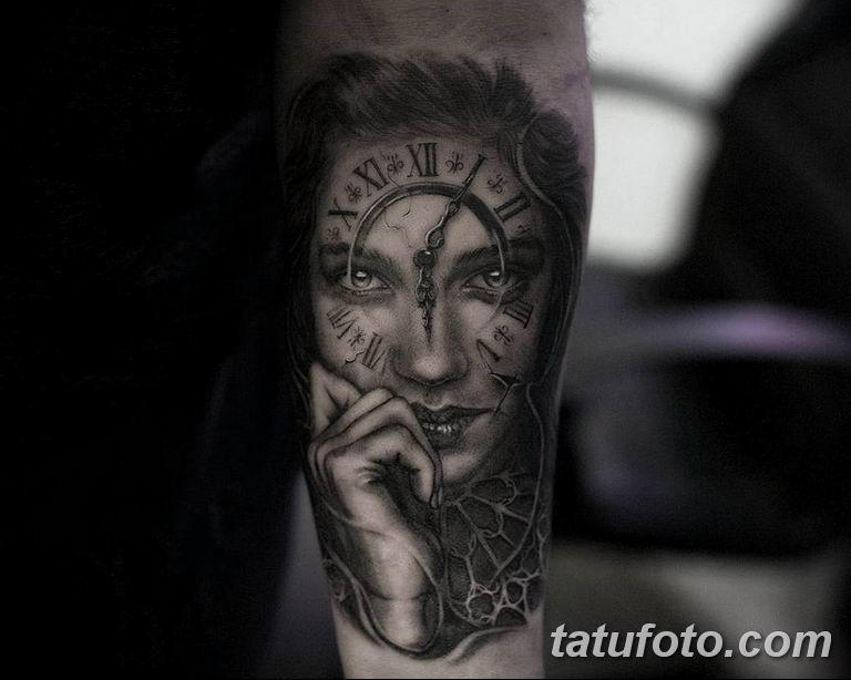 Фото ттату время (часы) 16.04.2019 №082 - tattoo time (hours) - tatufoto.com