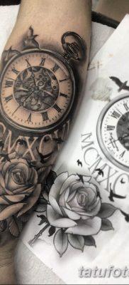 Фото ттату время (часы) 16.04.2019 №083 – tattoo time (hours) – tatufoto.com