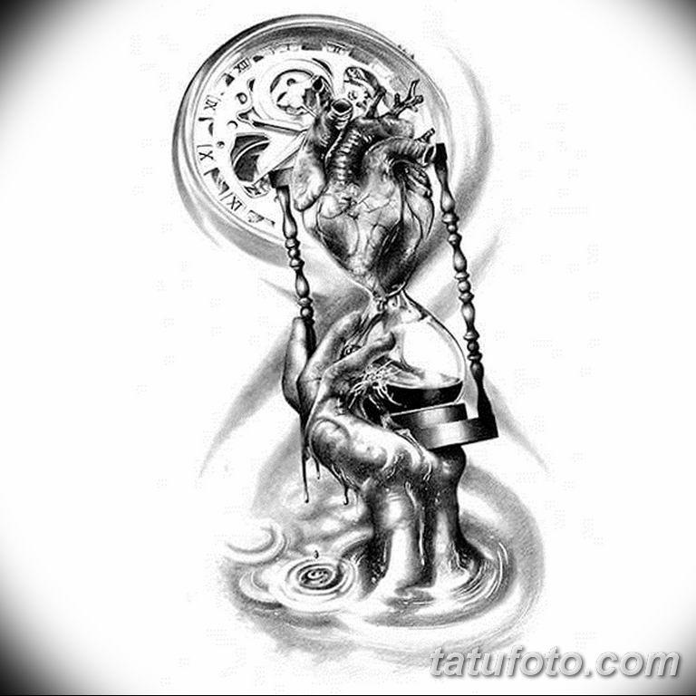 Фото ттату время (часы) 16.04.2019 №085 - tattoo time (hours) - tatufoto.com