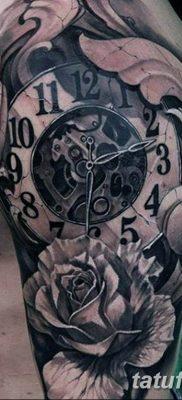 Фото ттату время (часы) 16.04.2019 №089 – tattoo time (hours) – tatufoto.com