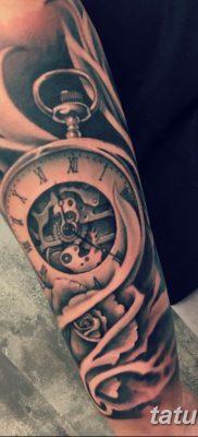 Фото ттату время (часы) 16.04.2019 №092 – tattoo time (hours) – tatufoto.com
