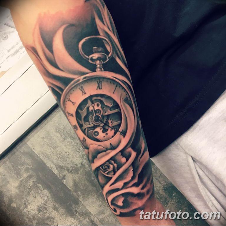 Фото ттату время (часы) 16.04.2019 №092 - tattoo time (hours) - tatufoto.com