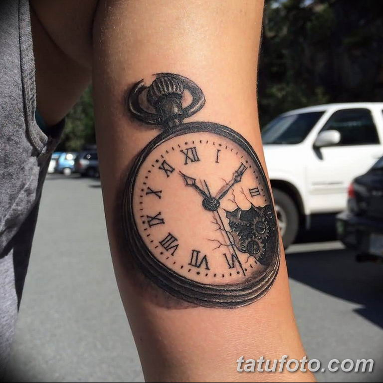 Фото ттату время (часы) 16.04.2019 №099 - tattoo time (hours) - tatufoto.com