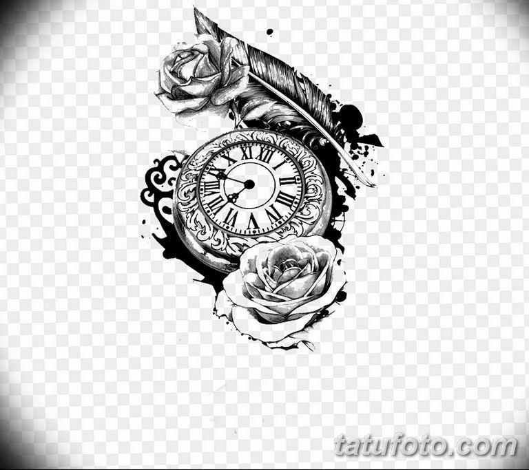 Фото ттату время (часы) 16.04.2019 №105 - tattoo time (hours) - tatufoto.com