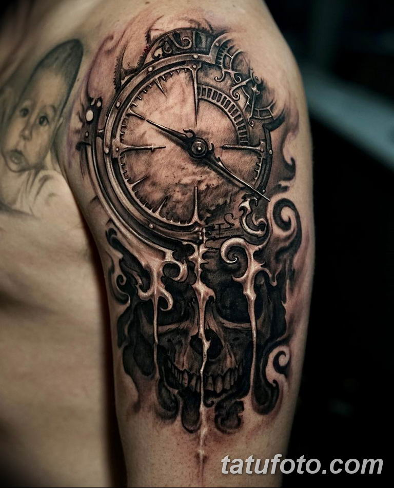 Фото ттату время (часы) 16.04.2019 №112 - tattoo time (hours) - tatufoto.com