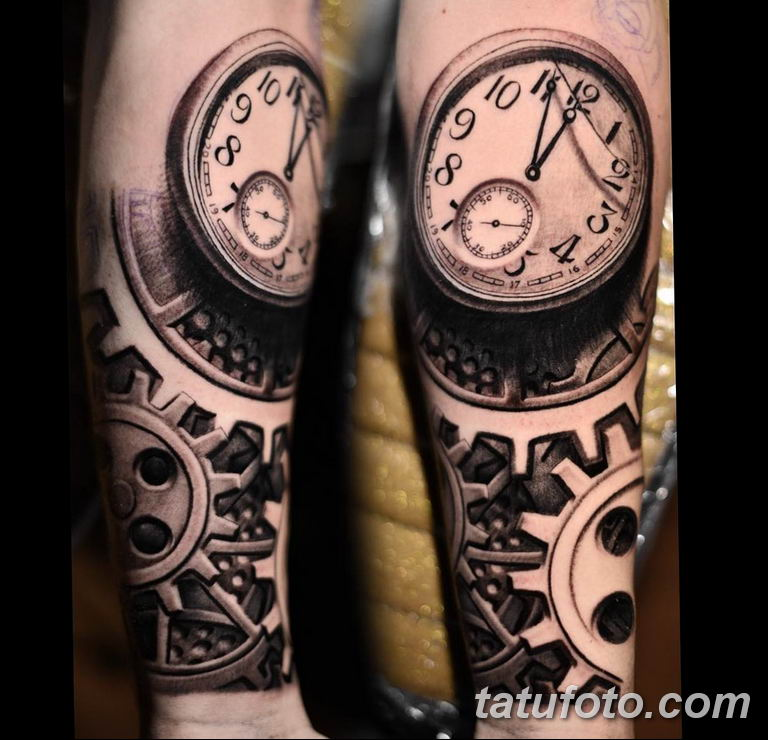 Фото ттату время (часы) 16.04.2019 №133 - tattoo time (hours) - tatufoto.com