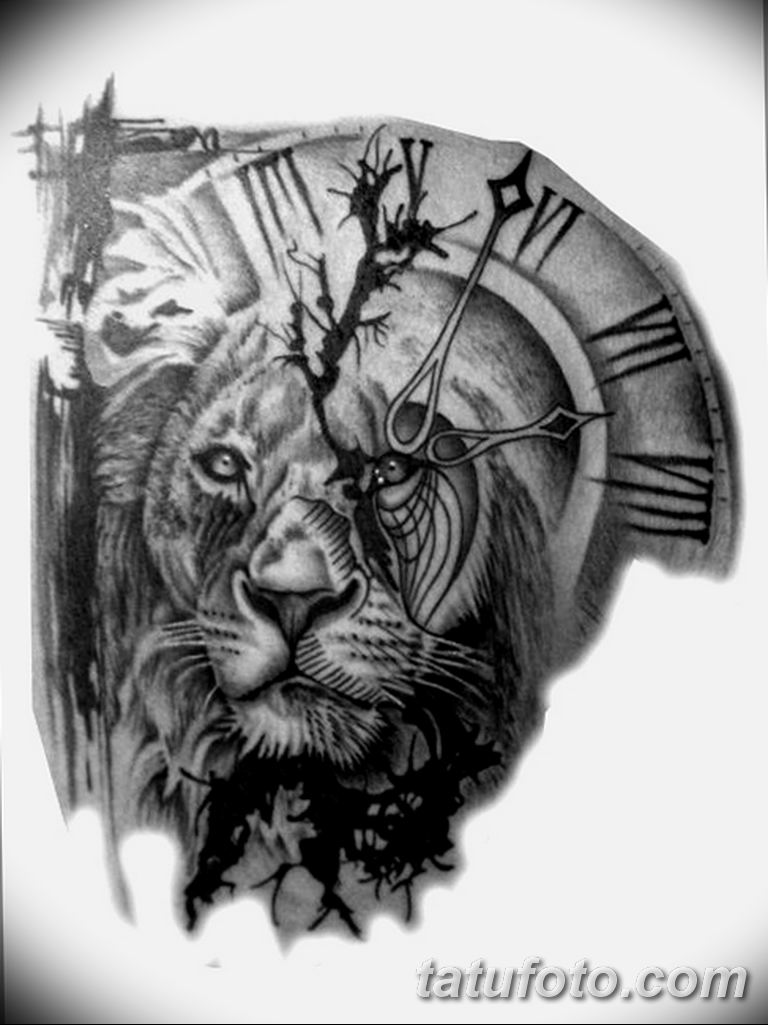 Фото ттату время (часы) 16.04.2019 №134 - tattoo time (hours) - tatufoto.com