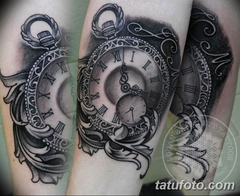 Фото ттату время (часы) 16.04.2019 №165 - tattoo time (hours) - tatufoto.com