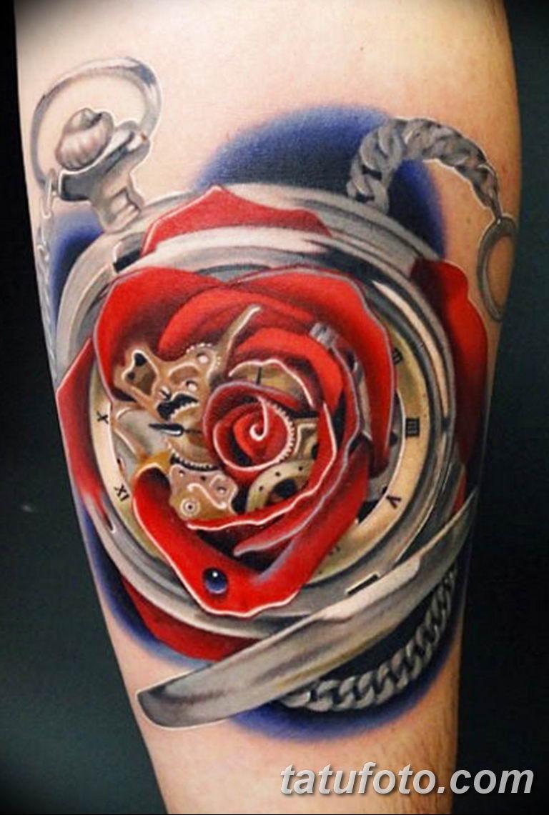 Фото ттату время (часы) 16.04.2019 №186 - tattoo time (hours) - tatufoto.com