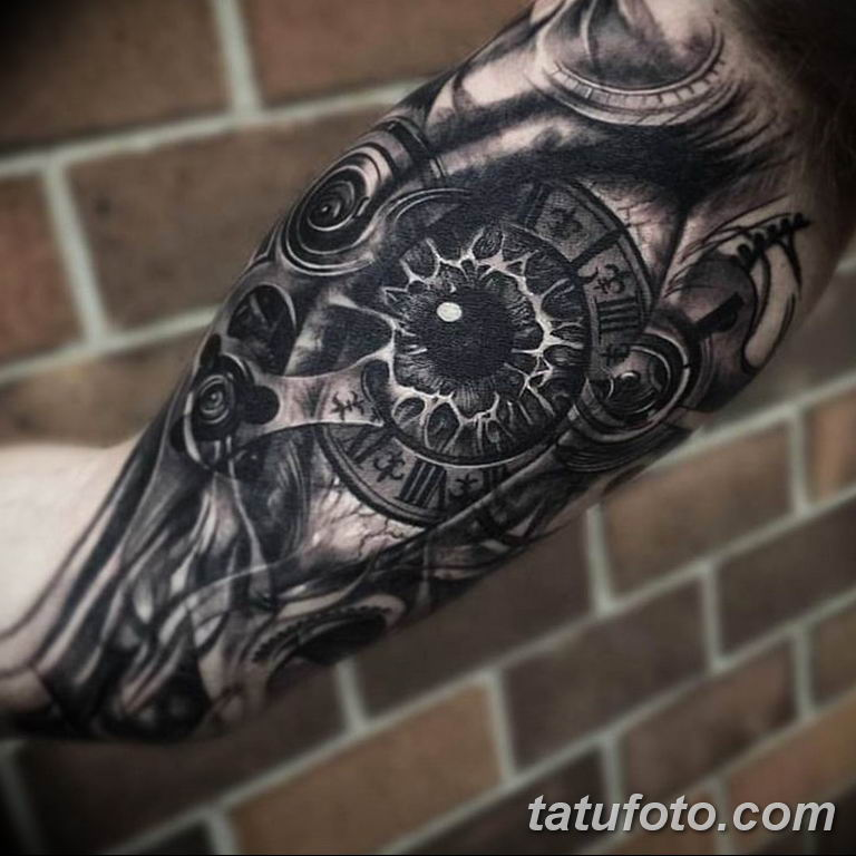 Фото ттату время (часы) 16.04.2019 №199 - tattoo time (hours) - tatufoto.com