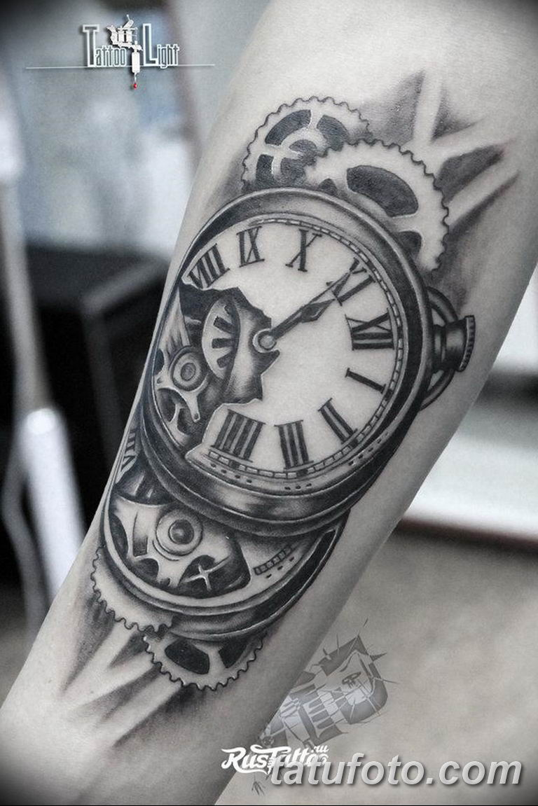 Фото ттату время (часы) 16.04.2019 №205 - tattoo time (hours) - tatufoto.com