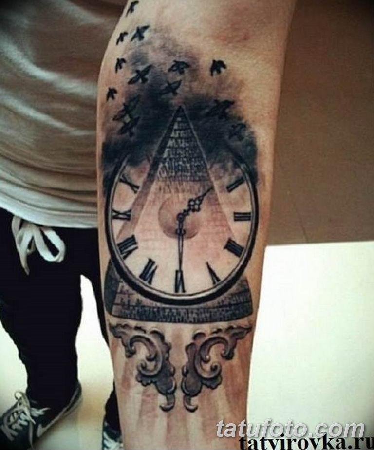 Фото ттату время (часы) 16.04.2019 №210 - tattoo time (hours) - tatufoto.com