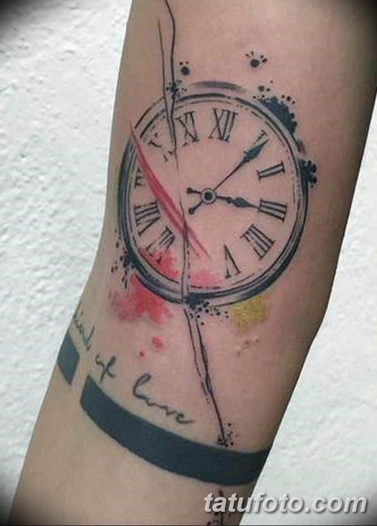 Фото ттату время (часы) 16.04.2019 №217 - tattoo time (hours) - tatufoto.com