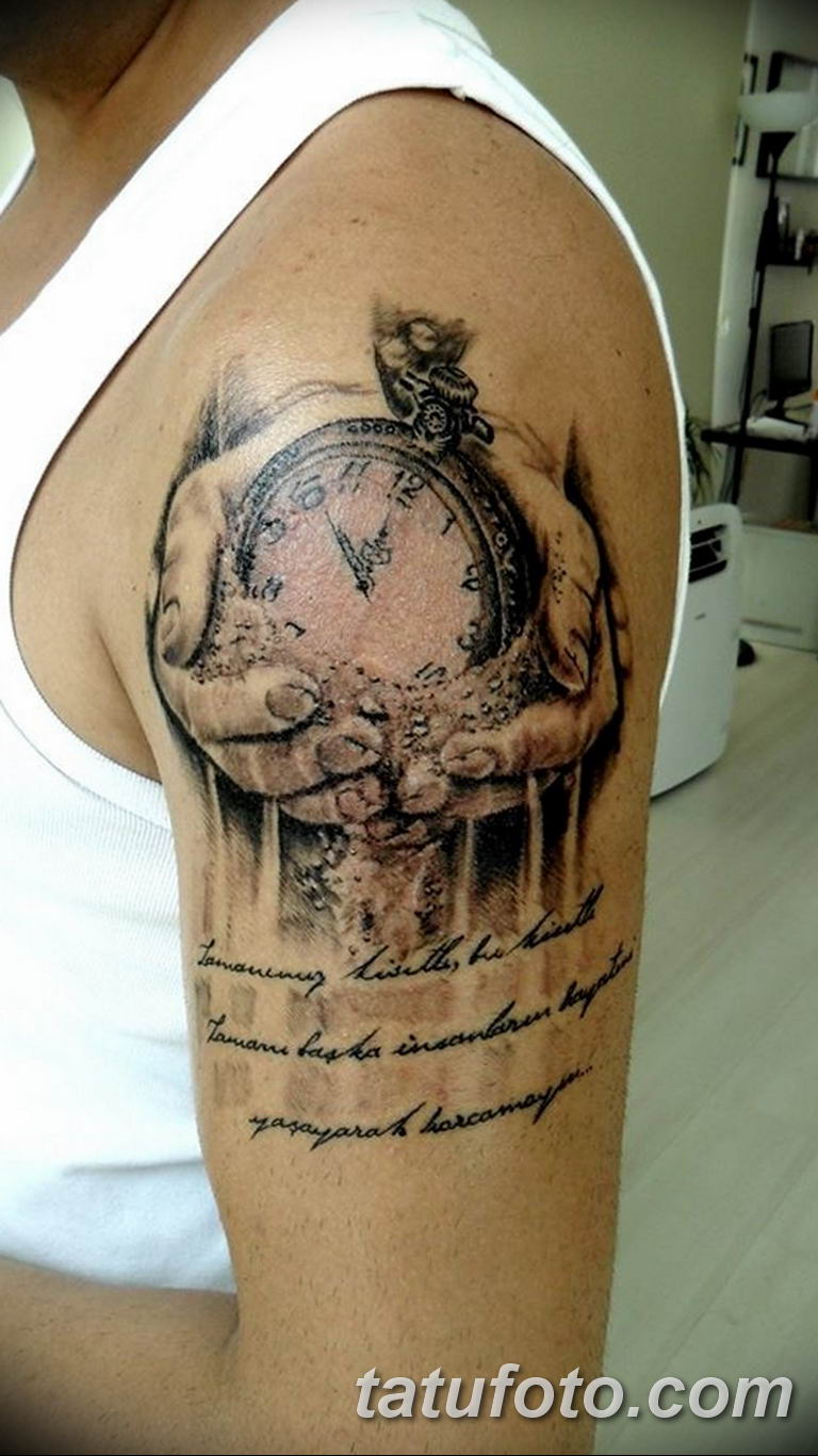 Фото ттату время (часы) 16.04.2019 №219 - tattoo time (hours) - tatufoto.com