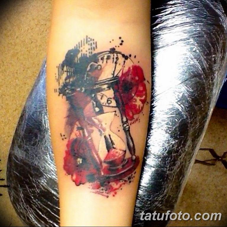 Фото ттату время (часы) 16.04.2019 №225 - tattoo time (hours) - tatufoto.com