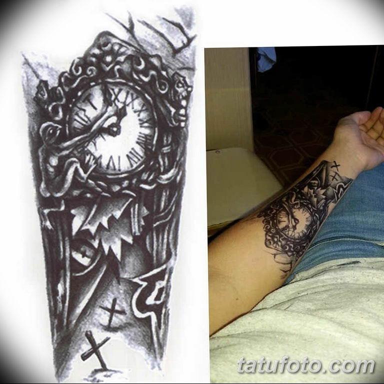 Фото ттату время (часы) 16.04.2019 №241 - tattoo time (hours) - tatufoto.com