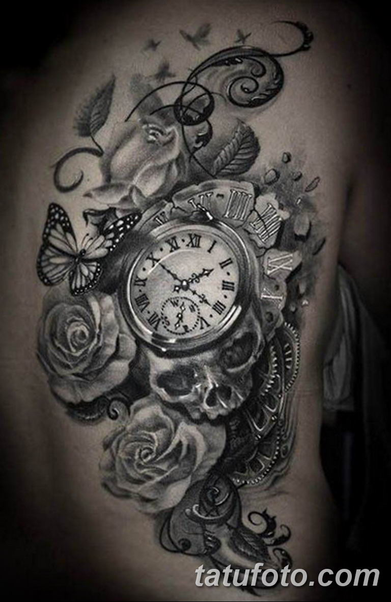 Фото ттату время (часы) 16.04.2019 №267 - tattoo time (hours) - tatufoto.com