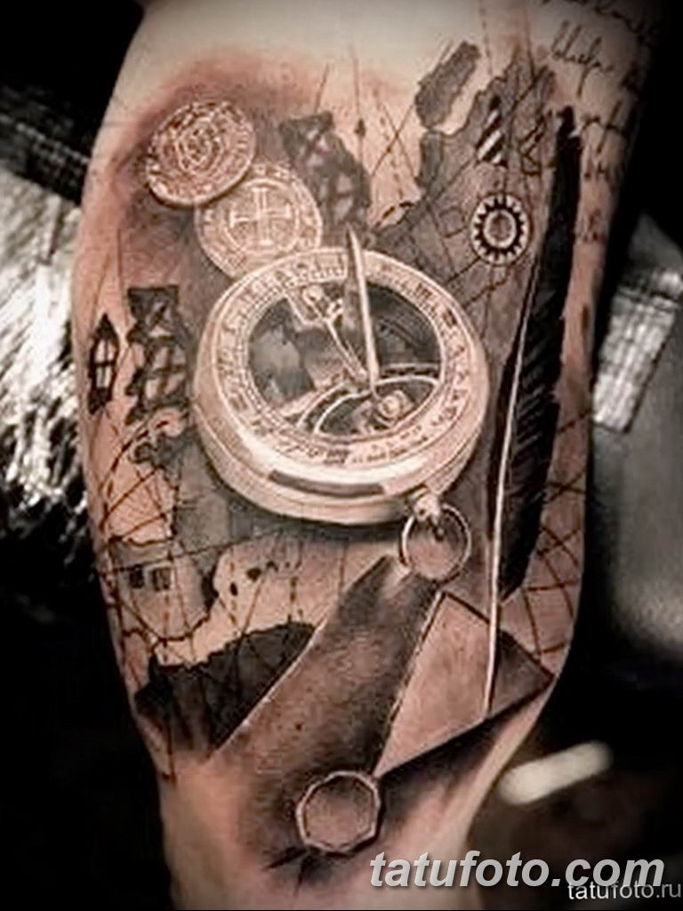 Фото ттату время (часы) 16.04.2019 №273 - tattoo time (hours) - tatufoto.com