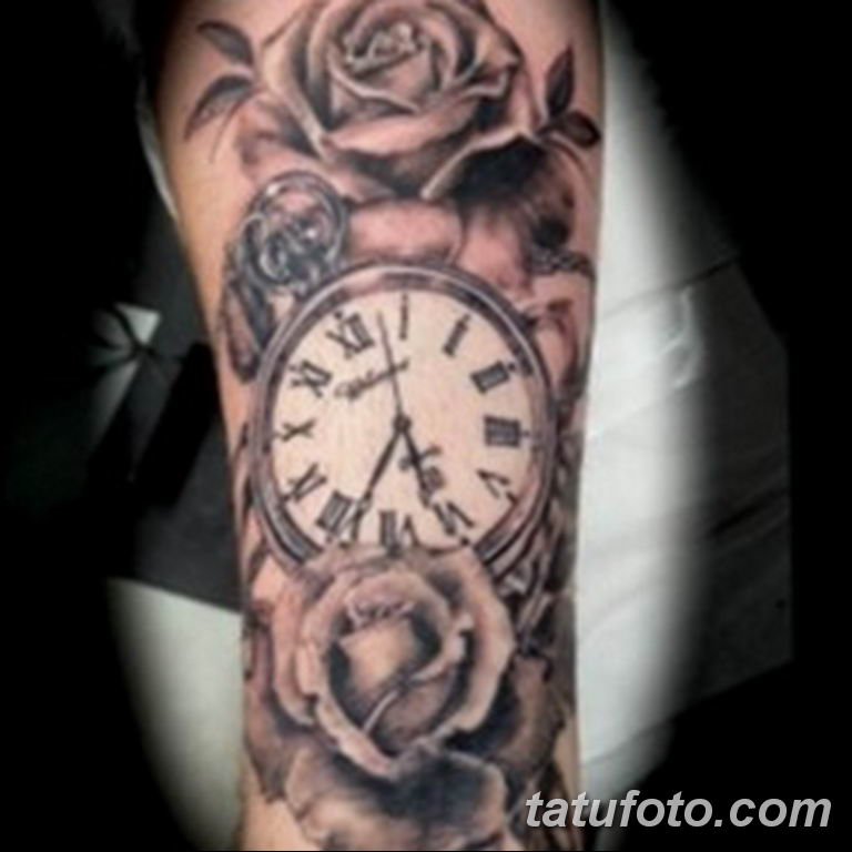 Фото ттату время (часы) 16.04.2019 №274 - tattoo time (hours) - tatufoto.com
