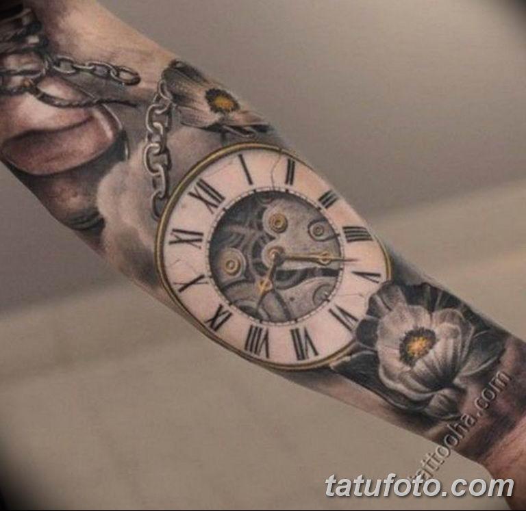 Фото ттату время (часы) 16.04.2019 №296 - tattoo time (hours) - tatufoto.com
