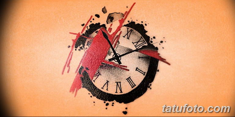 Фото ттату время (часы) 16.04.2019 №302 - tattoo time (hours) - tatufoto.com
