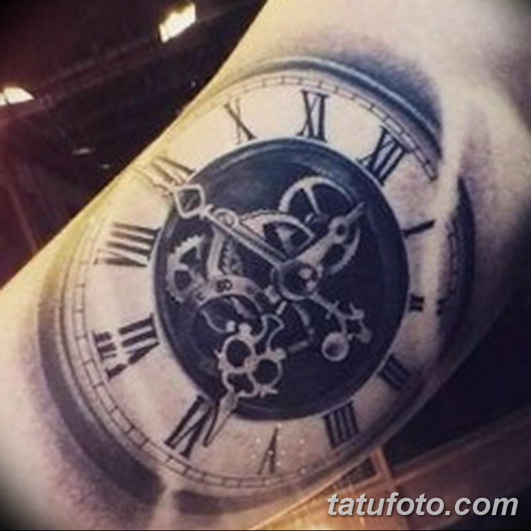 Фото ттату время (часы) 16.04.2019 №329 - tattoo time (hours) - tatufoto.com