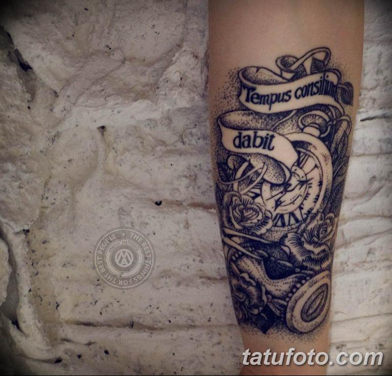 Фото ттату время (часы) 16.04.2019 №332 - tattoo time (hours) - tatufoto.com