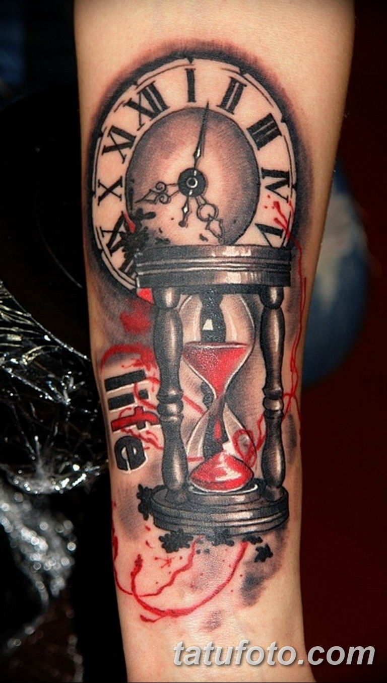 Фото ттату время (часы) 16.04.2019 №335 - tattoo time (hours) - tatufoto.com