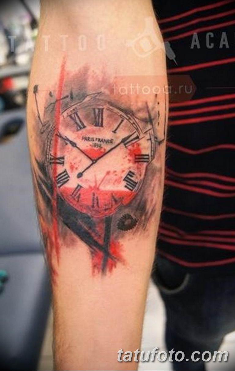 Фото ттату время (часы) 16.04.2019 №350 - tattoo time (hours) - tatufoto.com
