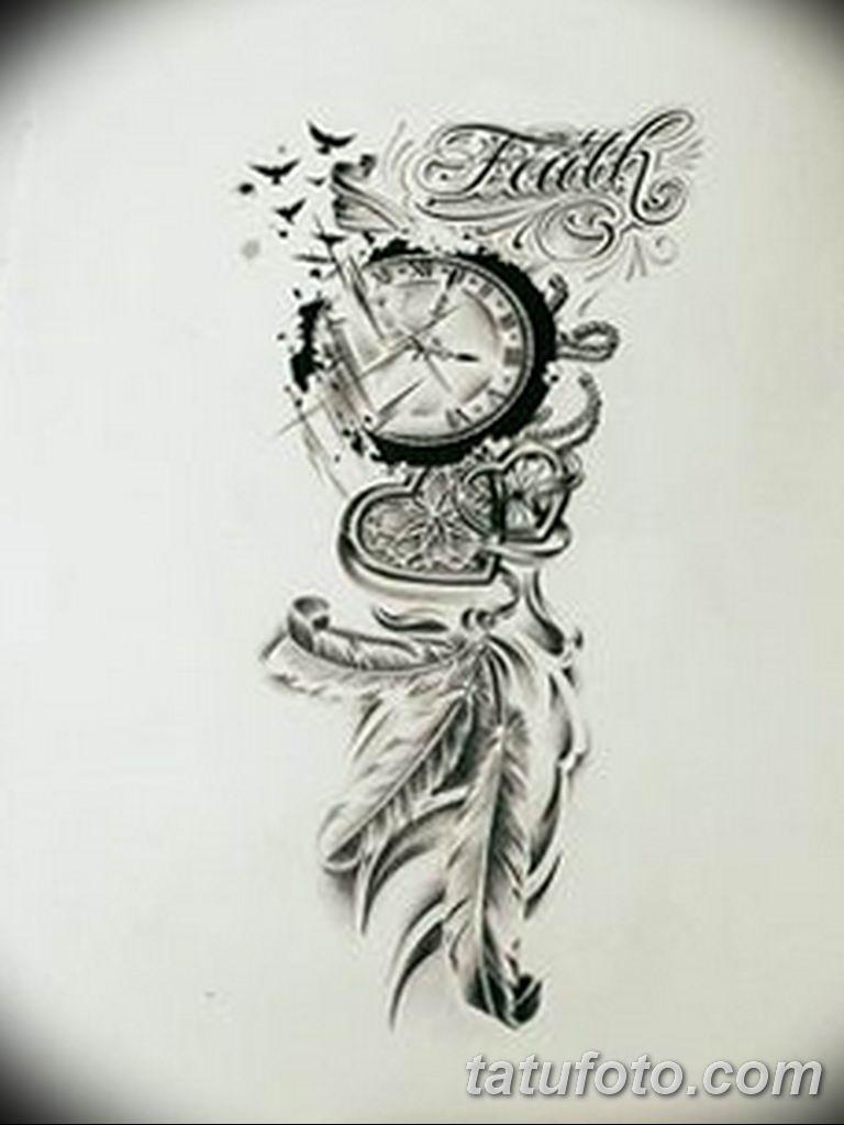 Фото ттату время (часы) 16.04.2019 №352 - tattoo time (hours) - tatufoto.com