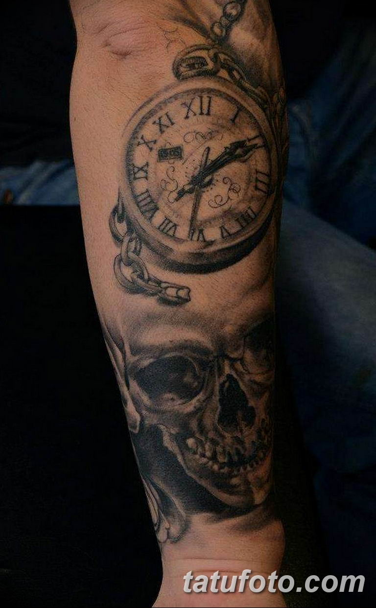 Фото ттату время (часы) 16.04.2019 №372 - tattoo time (hours) - tatufoto.com
