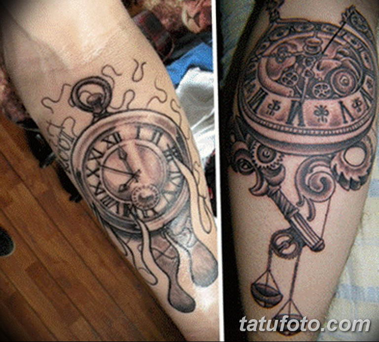 Фото ттату время (часы) 16.04.2019 №376 - tattoo time (hours) - tatufoto.com